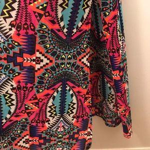Aztec Design Pink Maxi Dress